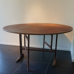 A Faux Wood Painted Swedish Dining Table To Sit 8 1870 in pine, Sweden, Falun area