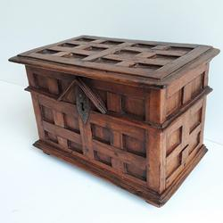 18th century French Walnut Box With Secret Drawer