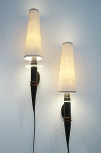 1950 Pair Of Unique French Walllights