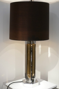1970 Chrome And Brass Table Lamp