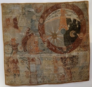 folk art 17th Cent. Swedish Canvas