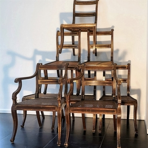 regency Set Of 8 Regency Simulated Rosewood Chairs