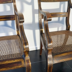 Set Of 8 Regency Simulated Rosewood Chairs regency in beech, England 1820-1830